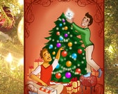 Set of 4 GAY CHRISTMAS CARDS