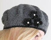 Embellished Basic Crochet Beret PDF Pattern