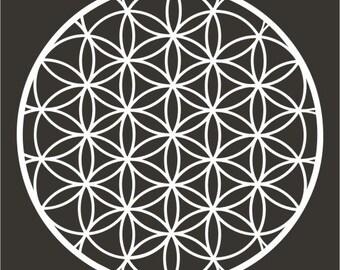 Flower of life sacred geometry white vinyl decal