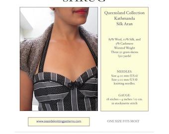 Cap Sleeve Shrug - PDF Knitting Pattern
