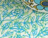 overprinted fall fabric