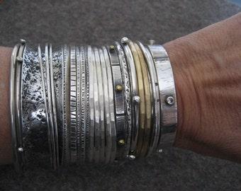 Three Interlocking Bracelets Sterling Silver Bangle Bracelet