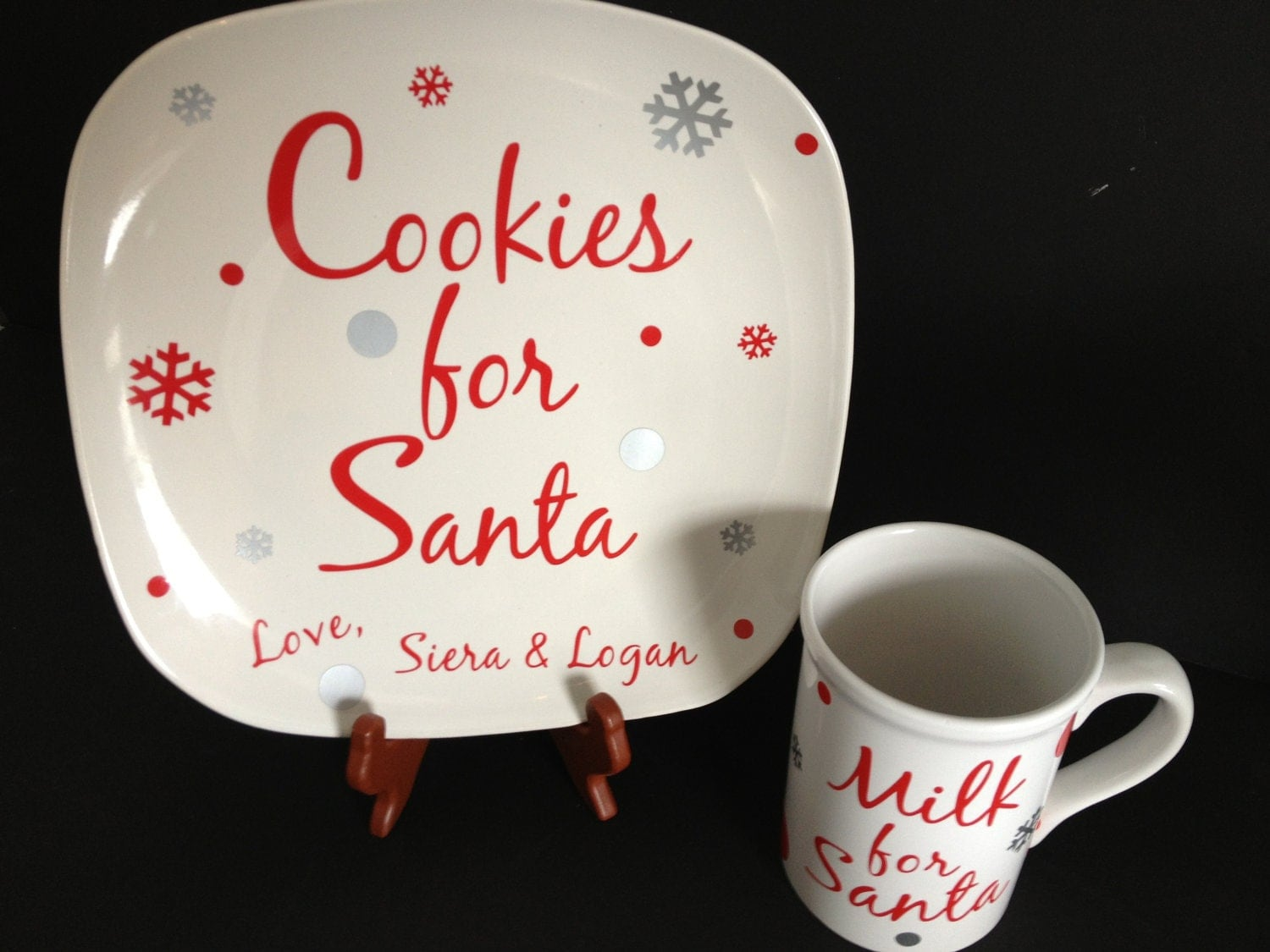 items similar to cookies for santa plate milk for santa
