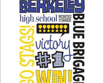 16 x 20 giclee print for Berkeley High School in Moncks Corner, SC