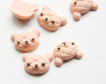 6pcs Acrylic Cabochons- Pink - Bear 22x16mm (34F3-A-158)