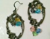 floral dangles - earrings