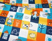 Japanese Fabric Children drawing theme A6