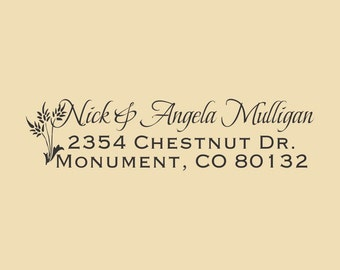 Custom Rubber Stamp Nick and Angela Design R028