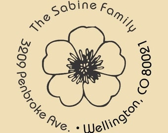 Custom Return Address Stamp Sabine Family Design R029