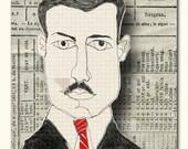Serious Men In Striped Ties Art Cards