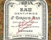Antique Vintage French Apothecary Perfume Label 13