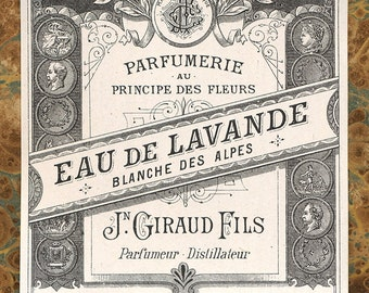 Antique Vintage French Apothecary Perfume Label 1