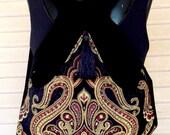 Classy Tapestry Backpack Black Velvet Renaissance Backpack Boho Backpack Boho Slingbag