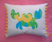SALE!! New Crab Pillow Made with Authentic Lilly Pulitzer fabrics, over 20 to choose from.