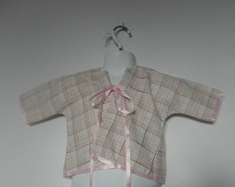 Upcycled Baby Girls Clothing. Baby Jacket.Upcycled Clothing. Kimono Jacket. Newborn to 6 Months