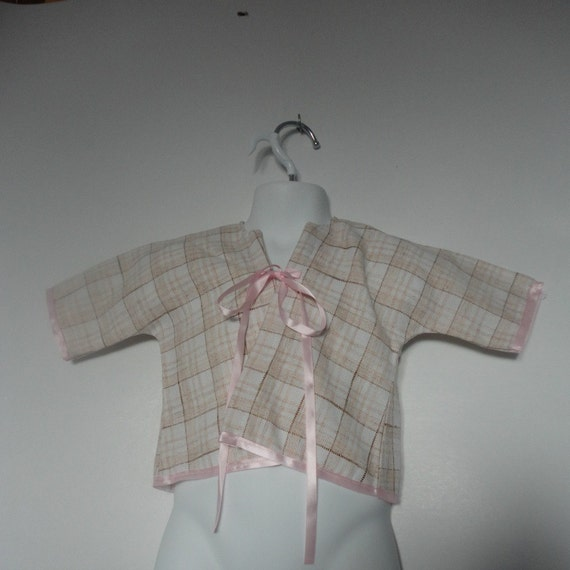 Upcycled Baby Girls Clothing. Baby Jacket.Upcycled Clothing. Kimono Jacket. Newborn to 6 Months