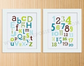 Number and Letter Typography Set (8X10) - You choose the colors