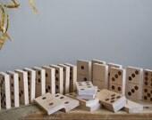 Large Wood Domino Blocks Set of 28