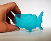 USA shaped soap scented in honey almond