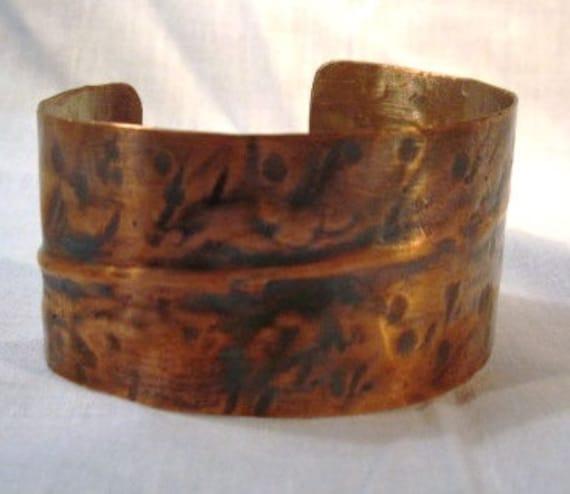 copper womans cuff bracelet jewelry healing