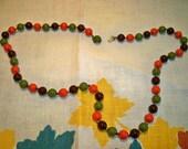 Vintage 1960s Autumn Colors Beaded Necklace