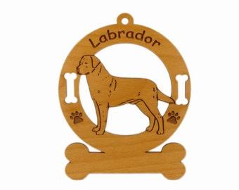 3478 Labrador Retriever 2  Standing Personalized Dog Ornament