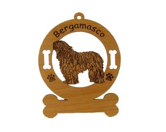 1701 Bergamasco Standing Personalized With Your Dog's Name