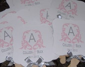 Wedding Fans with Monogram
