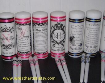 Wedding Unity Candle Set - personalized
