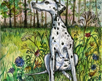 Dalmation DOG Art Print