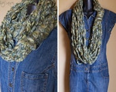 Moss Green Infinity Lotus Lupe Scarf