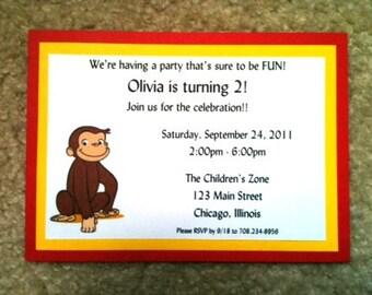 Curious George Invitations