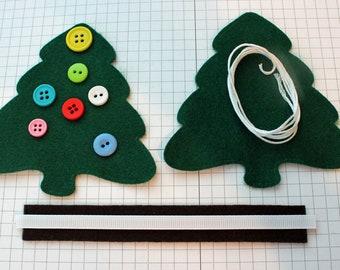 DIY Felt Christmas Tree Ornament KIT