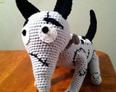 Frankenweenie Inspired Sparky Amigurumi Crochet Deluxe Life size Plush Pattern PDF
