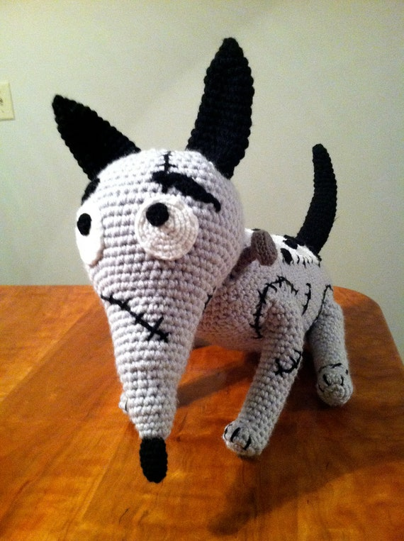 Frankenweenie Inspired Sparky Amigurumi Crochet Deluxe Life size Plush Pattern PDF