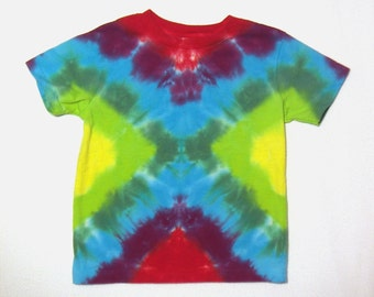 Brilliant Rainbow Colors Tie Dye T-Shirt  Size 5 to 6 T