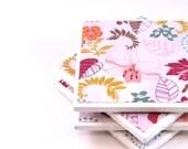 Tile Coasters - Pink Floral - Set of 4 Tile Coasters