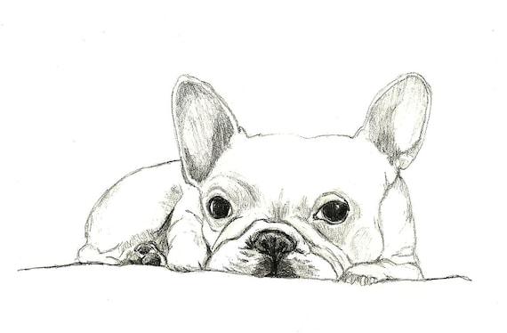 French Bulldog Art - Little French Bulldog - Dog Art