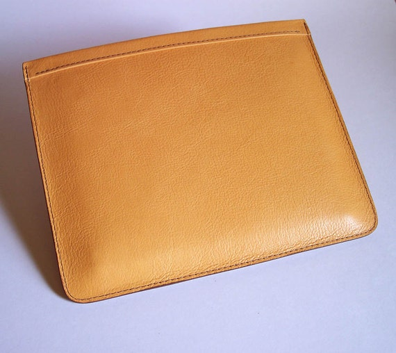 iPad Case for 4 and 3 Models - Yellow Pebble-Grain Leather Sleeve - Immediate Shipping