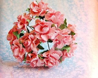 Blush Pink Peonies Vintage style Millinery Flower Bouquet - for decorating, gift wrapping, weddings, party supply, holiday