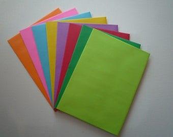 PE30  24 pc. Multi  Color Envelopes A7 60 lb. 5 1/4 x 7 1/4 (13.34cm x 18.42cm)