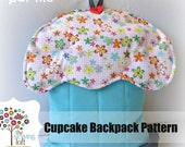 Cupcake Backpack Pattern -PDF File Downloads INSTANTLY
