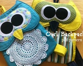 Owl Backpack Pattern -INSTANT Download PDF Pattern