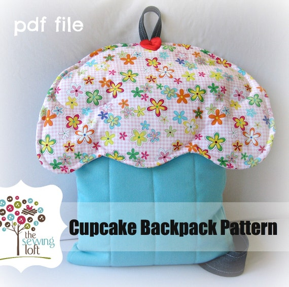 Cupcake Backpack Pattern -INSTANT Download PDF File