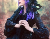 Black Dahlia Fantasy Gothic Sparkle Antoinette Style Wedding Gown
