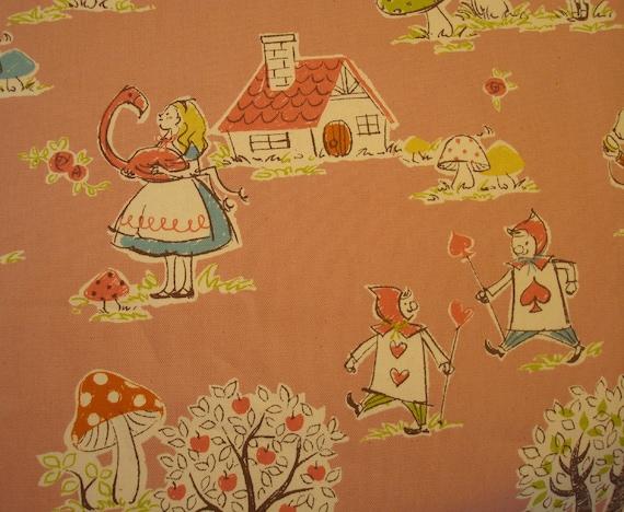KOKKA...Alice in Wonderland (Trefle), Japanese Import, 1/2 yard