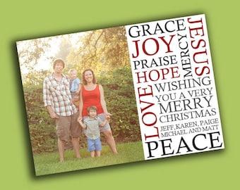 Subway Christmas Card Template 5x7
