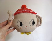Teapot. Wall hanger MADE TO ORDER. Doll hook. One-of-a-kind.