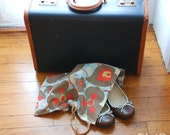 "Shoe bag with Amy Butler ""morning glory"" fabric"