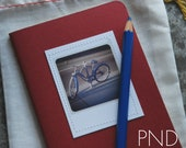 PND Vintage Schwinn Bicycle Photograph Stitched Moleskine Notebook